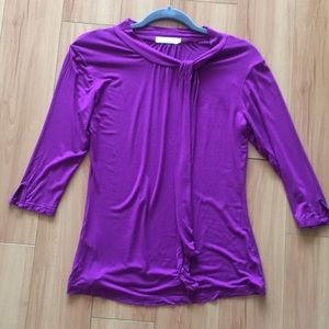 Sweet purple 3-quarter sleeve top